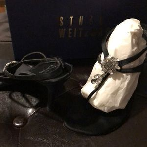 Stuart Weitzman black Sandal heel